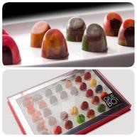 Algunos de los bombones que el chef Castillo vende en sus tiendas QUE BO! de México.