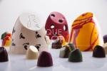 Bombones con mil formas, colores y sabores pero, sobre todo, texturas que salen del producto natural, casi virgen.